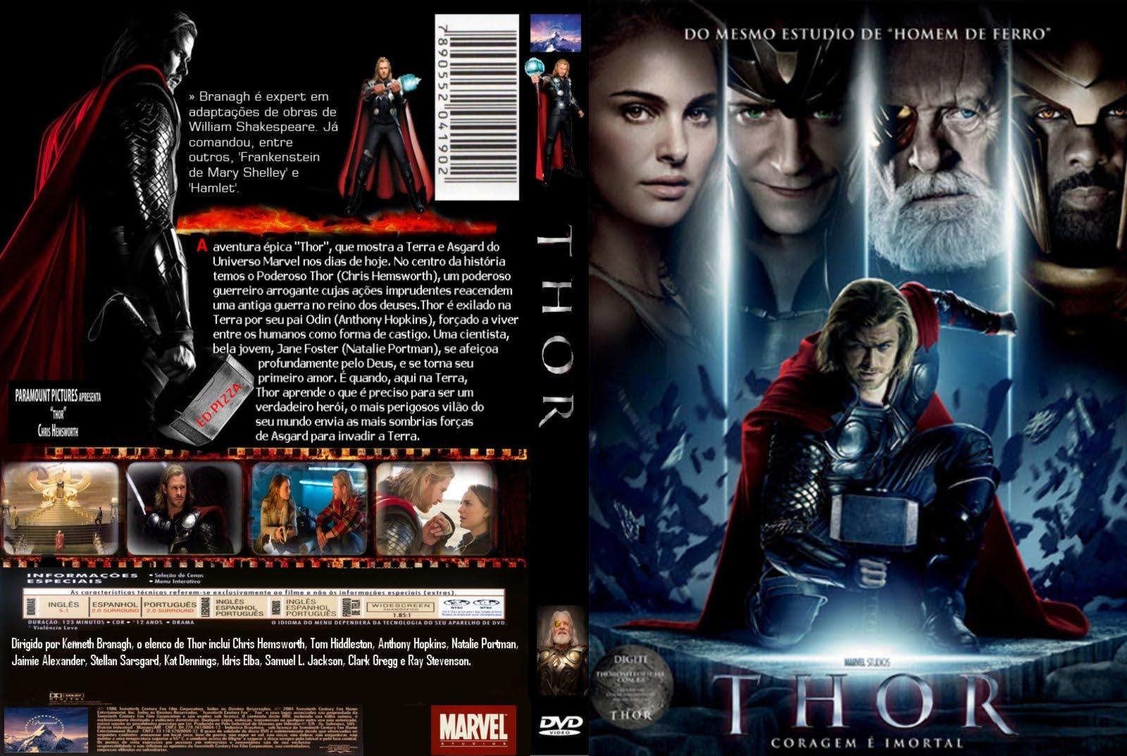 capas e labels de filmes e series  thor
