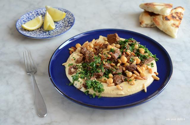 Hummus kawarma - Hummus con agnello e limone - Ricetta Ottolenghi