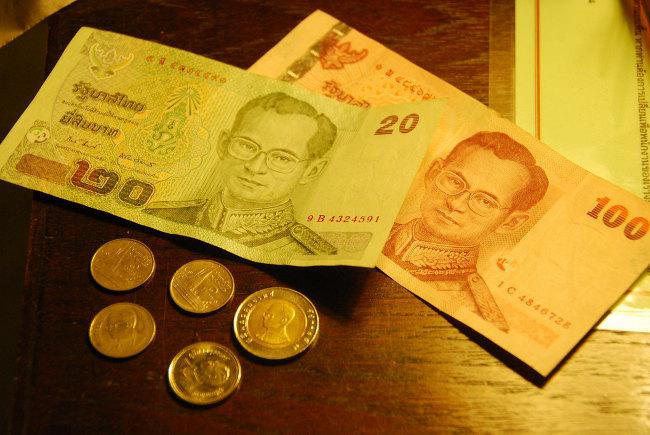 Тайские купюры и монеты