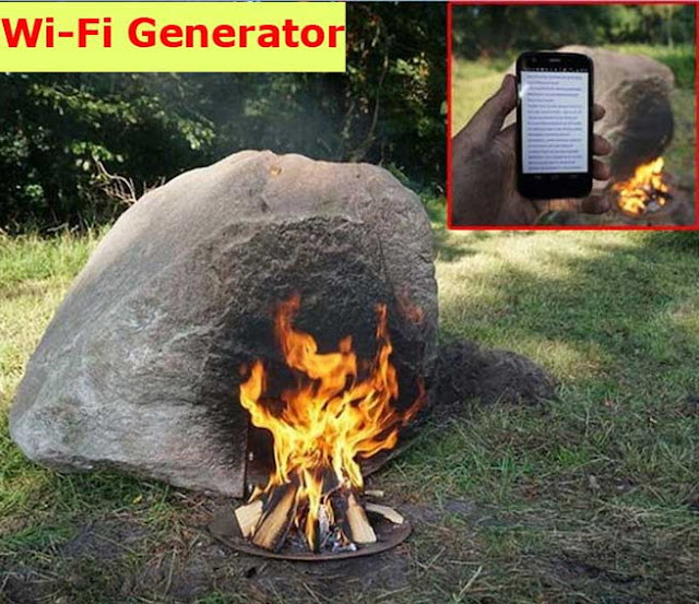 Stone on Fire and Get Wi-Fi Signal.