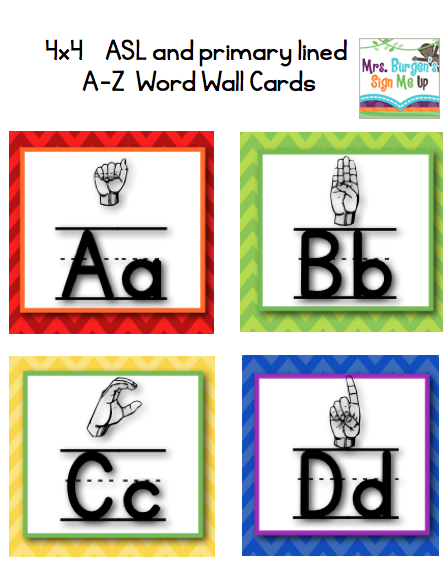 American Sign Language Classroom Decorations ~ Mrs burgen s sign me up