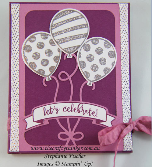 Fun Fold, Accordion Card, Balloon Adventures, #thecraftythinker, Stampin Up Australia Demonstrator, Stephanie Fischer, Sydney NSW