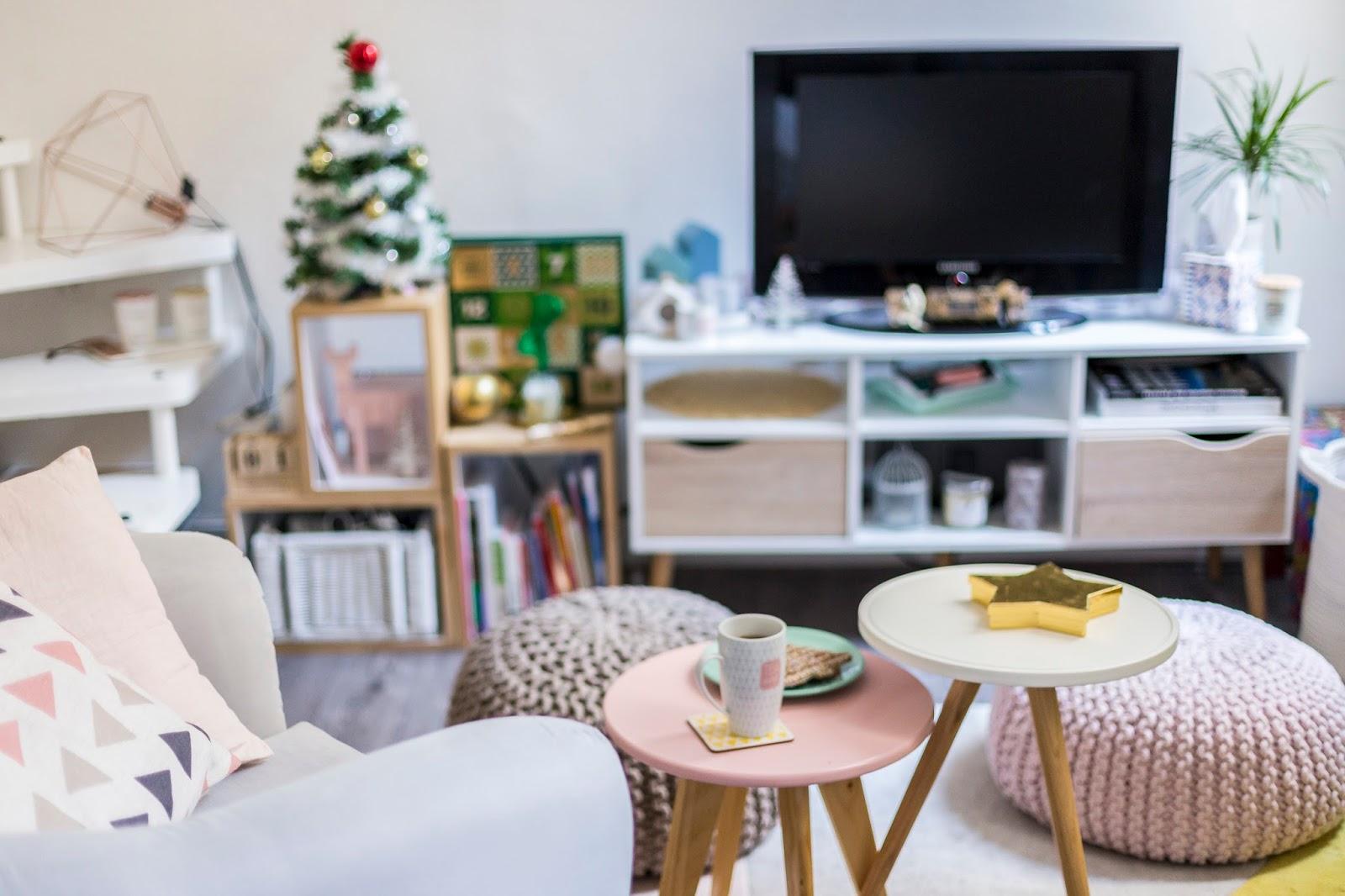 Décoration salon mini sapin Noël hema