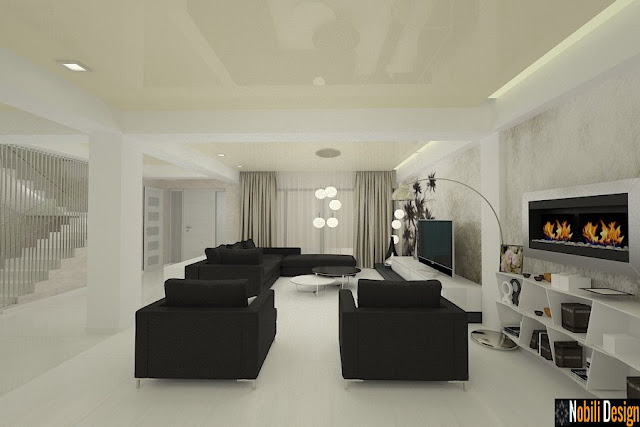 Design interior living modern Constanta - Amenajare living casa in Constanta