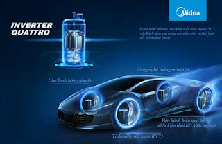 Công nghệ tiết kiệm điện inverter điều hòa midea