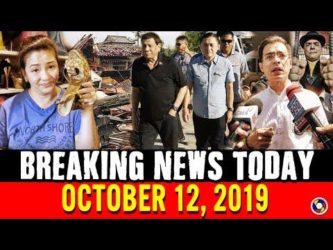 BREAKING NEWS TODAY OCTOBER 12, 2019 | PRES. DUTERTE | ISKO MORENO | HAGIBIS | REGINE VELASQUEZ
