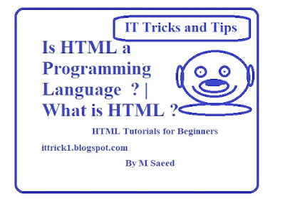 is html a programming language  | what is html
