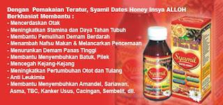 Khasiat Manfaat Madu Syamil Dates Honey Asli Original untuk anak
