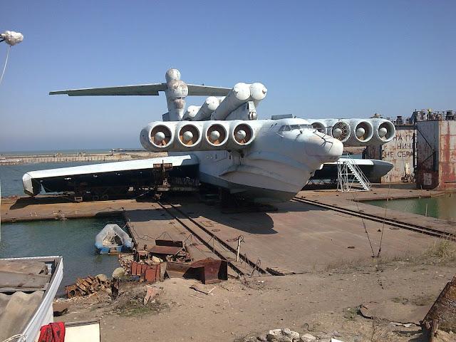 Lun sınıfı Ekranoplan - Kaspiysk, Rusya