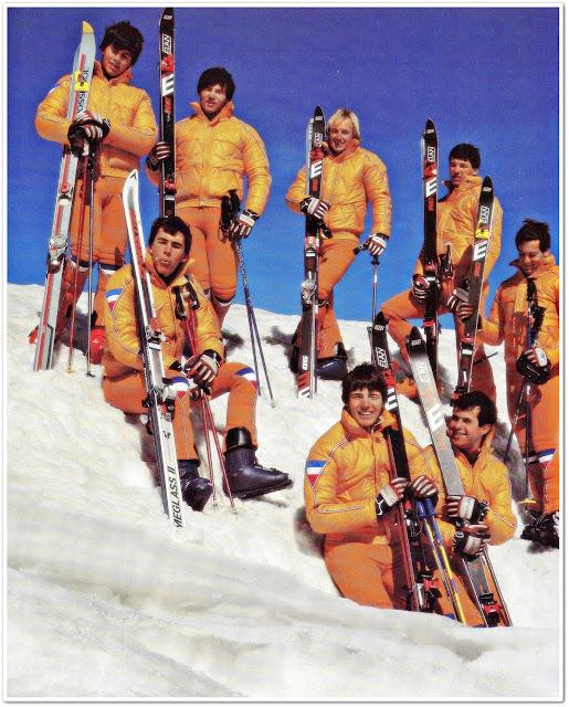 A reprezentacija za sezonu 1980/1981: Benedik, Kuralt, Križaj,  Oberster, Strel (gornji red), Cerkovnik, Franko i Zibler
