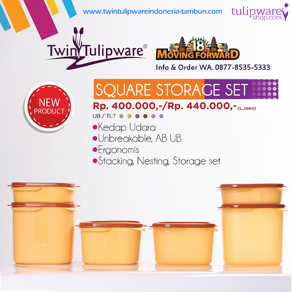 Square Storage Set UB/TLT - Katalog 2018 Twin Tulipware