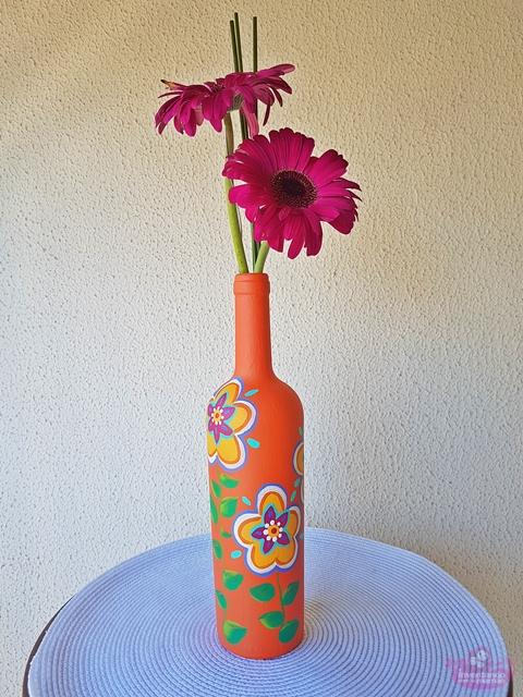 Garrafas recicladas na decoração