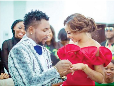 Oritsefemi Sprays His Wife With $100 Bills At Bachelorette Party