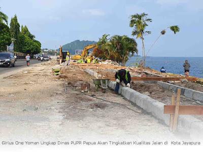 Girius One Yoman Ungkap Dinas PUPR Papua Akan Tingkatkan Kualitas Jalan di Kota Jayapura