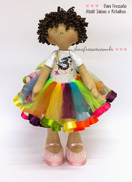 Boneca de Festa Personalizada com Tutu