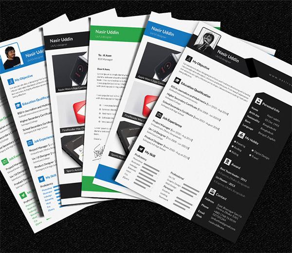 kumpulan cv dan resume template gratis