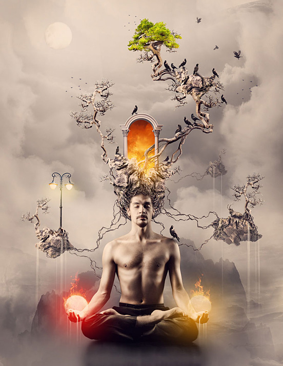 Digital Art and Designs by Romel Belga The San Telmo Meditation