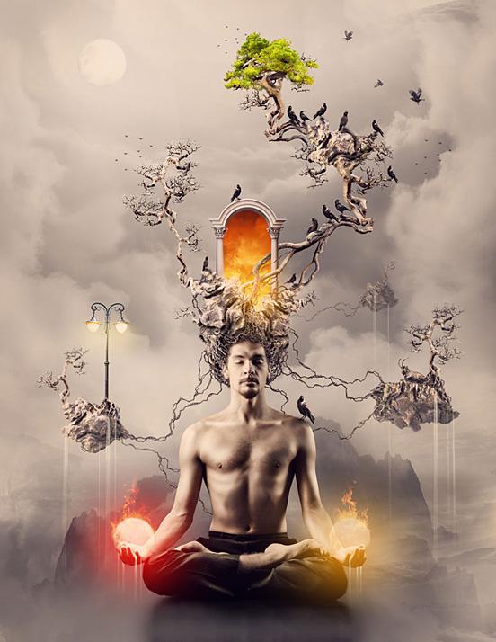 Digital Art and Designs by Romel Belga The San Telmo Meditation