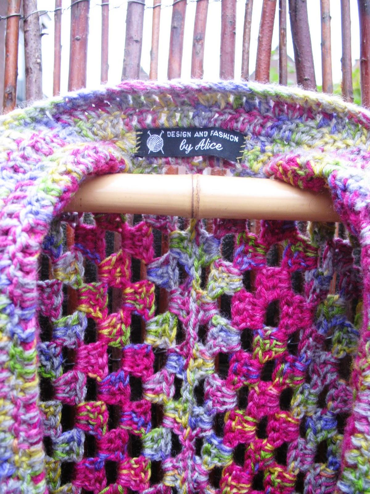 Atelier De Kleine Haven Gehaakt Granny Square Hexagon Vest
