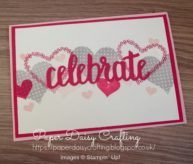 Heart Happiness and Celebrate You thinlits dies from Stampin' Up!