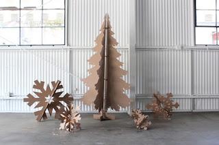árbol navideño material reciclado