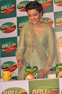 Kajal-Agarwal-Latest-Stills-at-Bru-Coffee-Launch