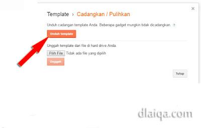 klik 'Unduh template'