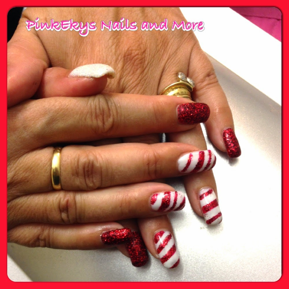 Pinkekys : Unghie in gel: Candy Christmas Nails