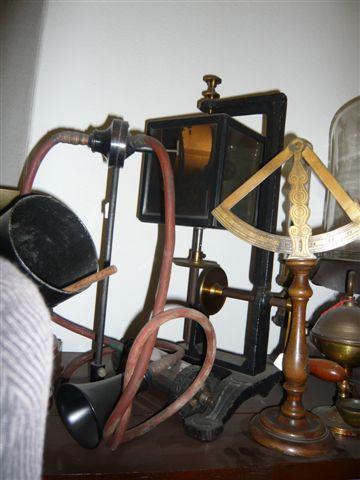 Specchio rotante di Weaststone per fiamma manometrica di Koenig, Carlo Dell'Acqua - 1870