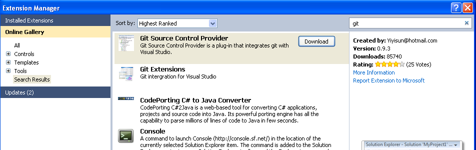 My little heaven: How to use Git for Visual Studio 2010