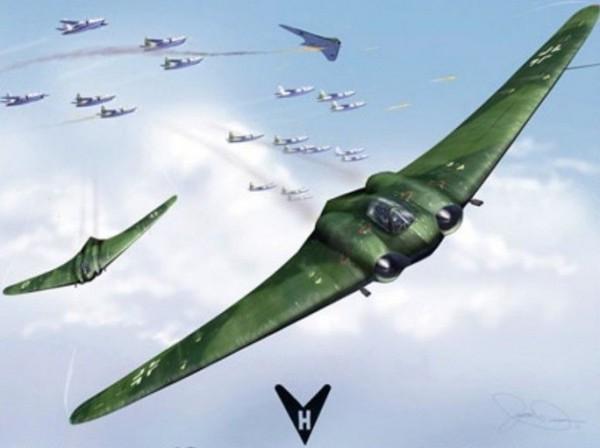 ΜΟΙΑΖΕΙ ΜΕ ΕΞΩΓΗΙΝΟ ΣΚΑΦΟΣ – Αυτό είναι το επαναστατικό «αόρατο» αεροπλάνο των Ναζί (βίντεο-φώτο)