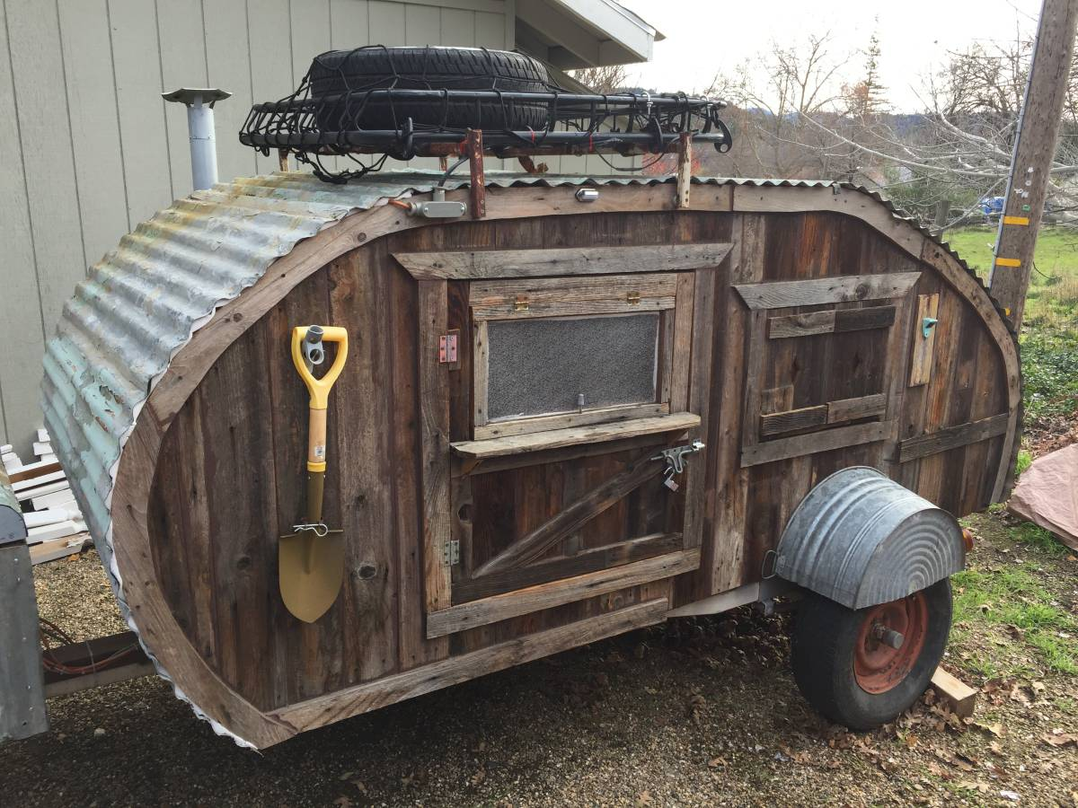Barnwood Teardrop Trailer For Sale