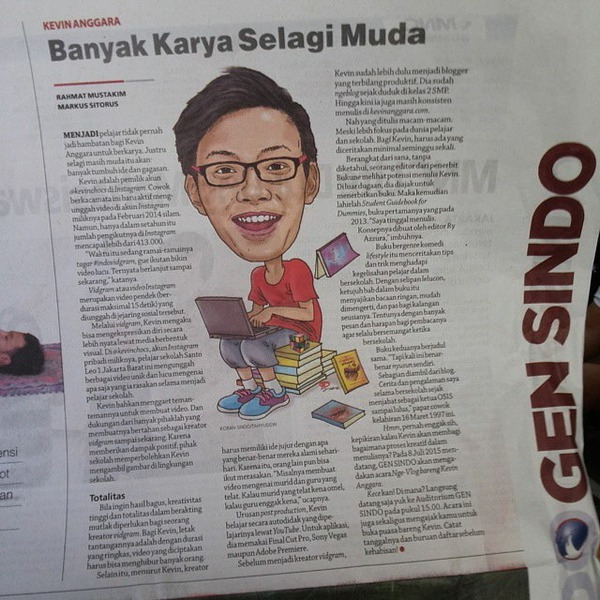 Kevin Anggara di Koran SINDO