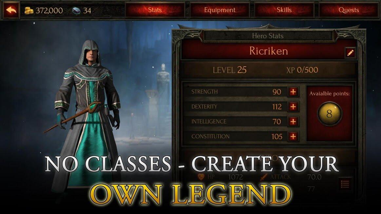 Arcane Quest Legends - Offline RPG v 1.3.0 apk mod DESBLOQUEADO