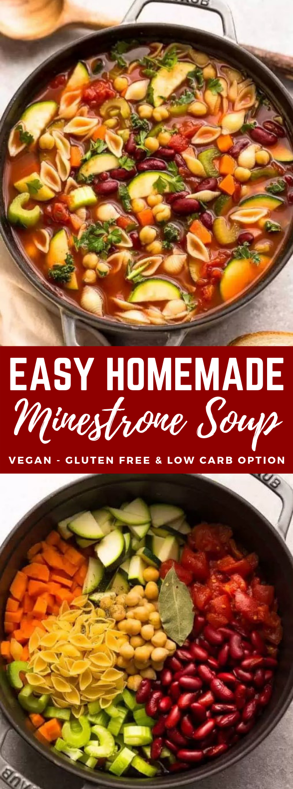 EASY MINESTRONE SOUP #vegetarian #paleo