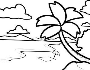 Super Simpel Menggambar Pantai Untuk Anak Belajar Menggambar