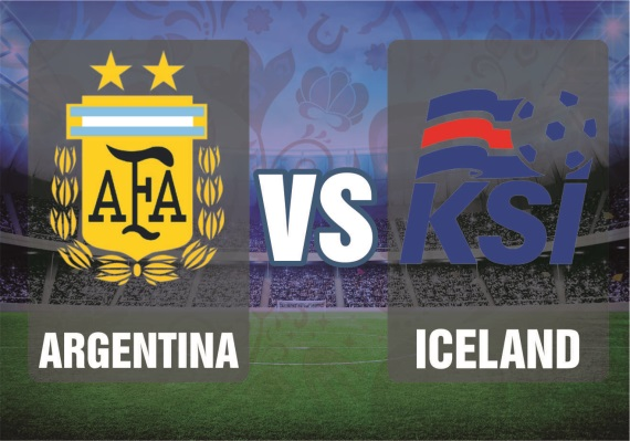 Argentina vs Iceland, Group D fixture between Argentina vs Iceland