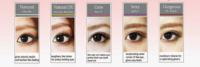 various type of eyelash extension