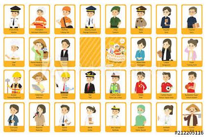 120+ Nama / Macam /Jenis Profesi dalam Bahasa Inggris dan Artinya