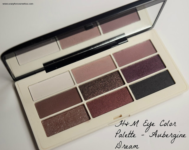 H&M Eye Color Palette Aubergine Dream Review, Swatches