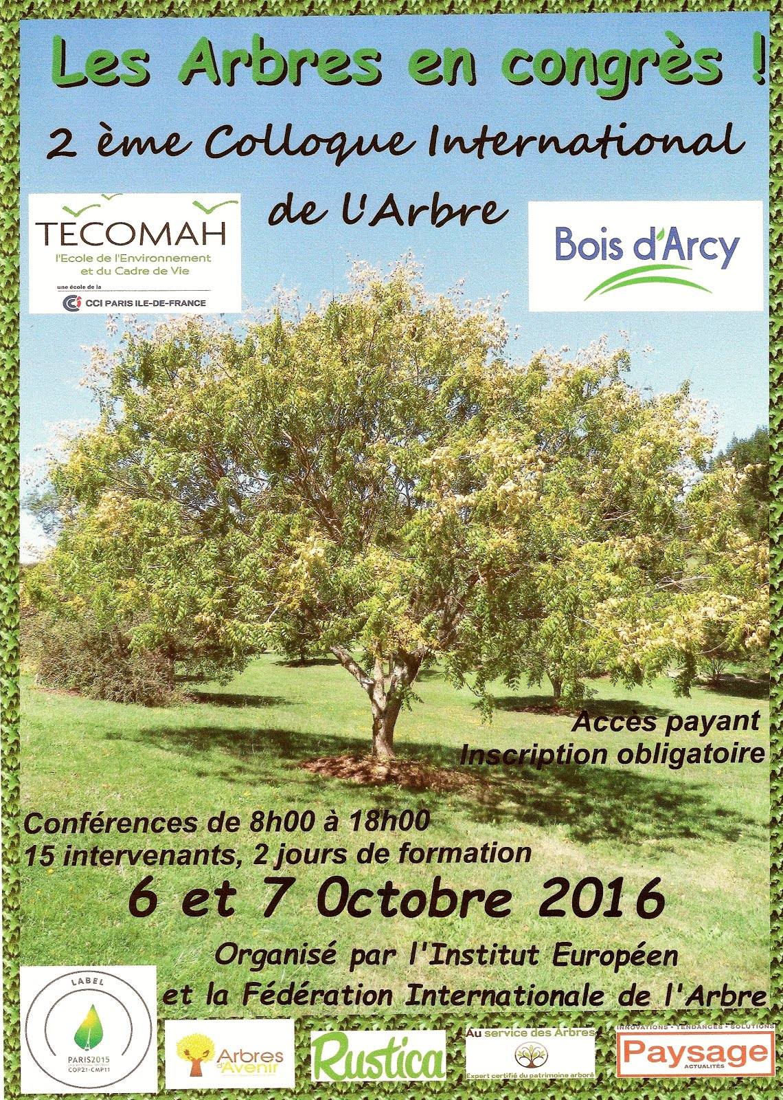 2ème Colloque International de l'Arbre