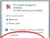 Cara Menghilangkan Tanda Silang Pada Icon Baterai Laptop