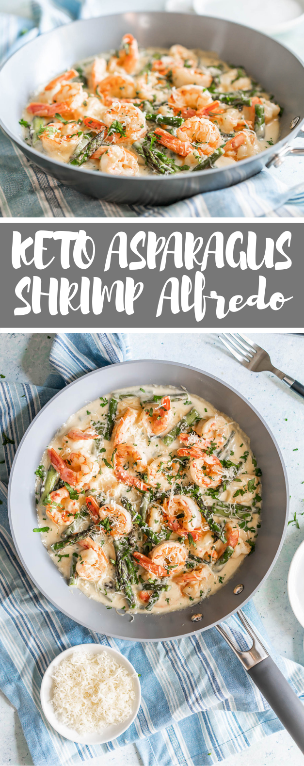 KETO CREAMY ASPARAGUS AND SHRIMP ALFREDO {GLUTEN-FREE & PRIMAL} #diet #lowcarb