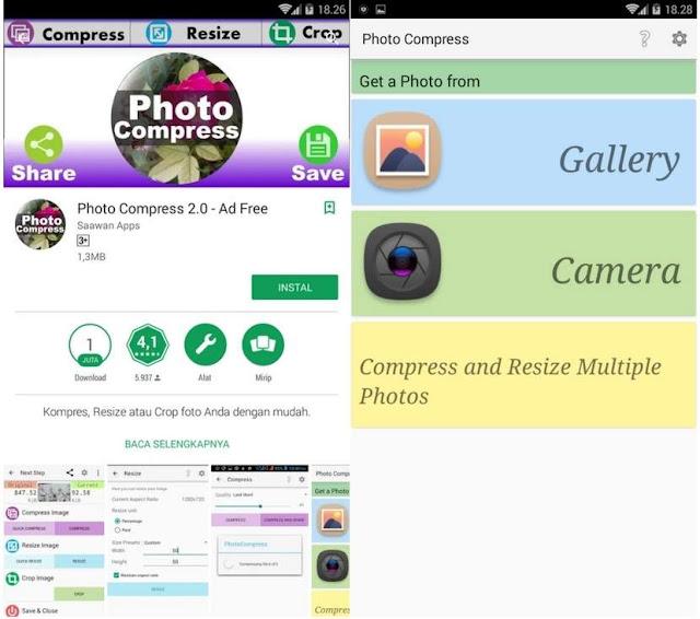 Cara Kompres Ukuran Gambar Tanpa Pecah di Android