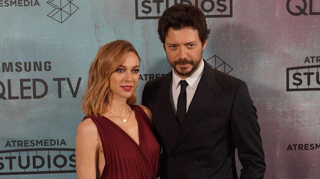 Álvaro Morte y Marta Hazas presentación de Atresmedia Studios