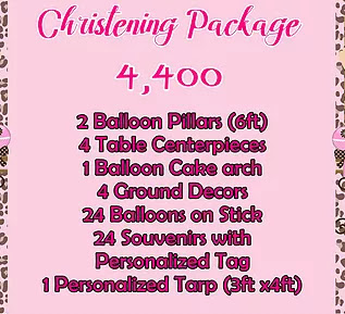 Christening Package 4,400