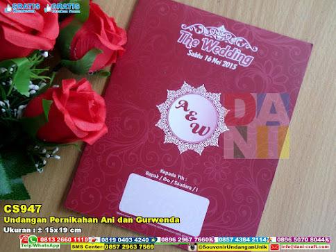 Undangan Pernikahan Ani Dan Gurwenda