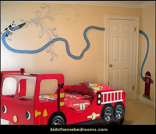 fire truck theme beds-theme beds-fire truck theme bed-fireman theme bedrooms