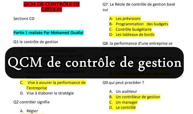 QCM de Contrôle de Gestion