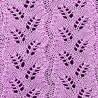 Eyelet Lace 19: Diagonal Fern | Knitting Stitch Patterns.